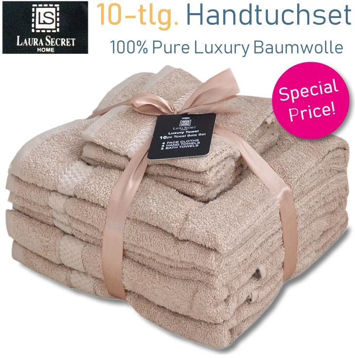Baumwolle Handtuchset 10-teilig