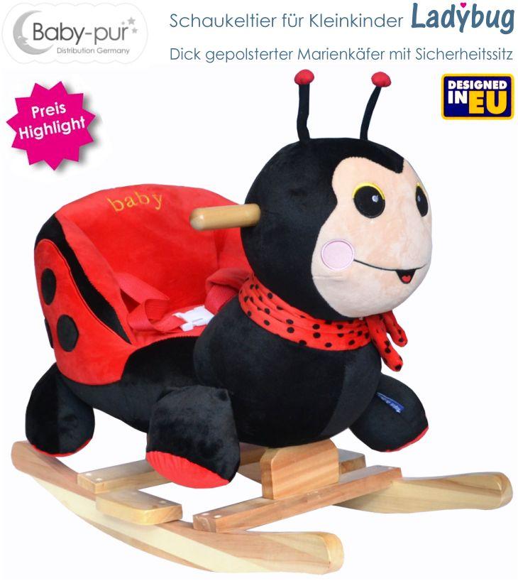 Baby Kleinkind Schaukeltier Schaukelpferd Marienkäfer