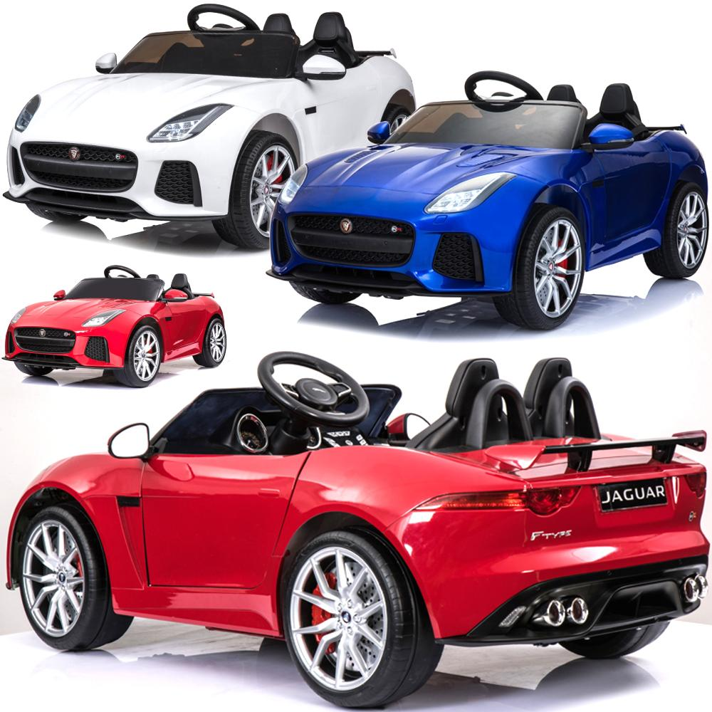 elektrisches kinderauto elektroauto jaguar f type e auto licht 12v fernstrg neu ebay. Black Bedroom Furniture Sets. Home Design Ideas