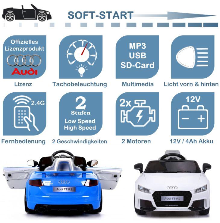 Kinder Elektroauto Audi TT RS