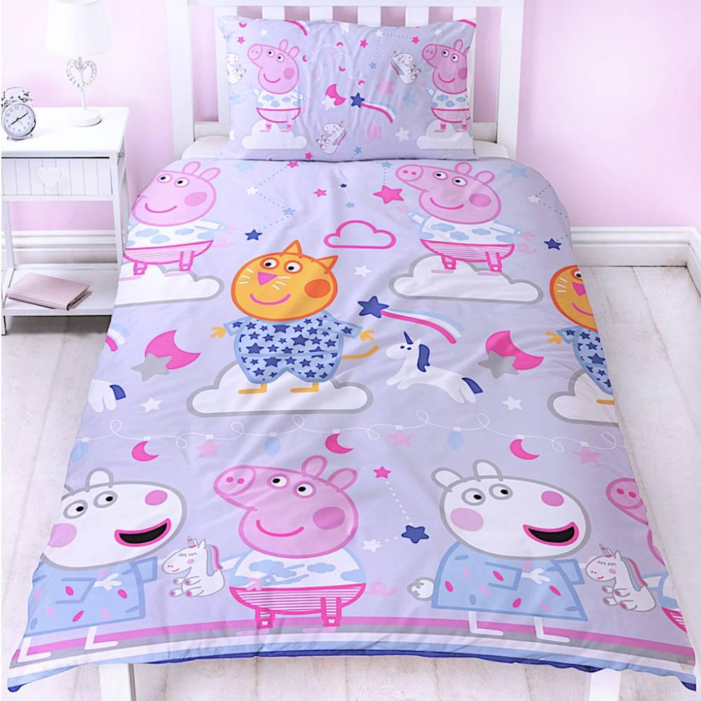 Peppa Wutz Kinderbettwäsche Bettgarnitur Bettbezug Mikrofaser Sommer Pig Neu