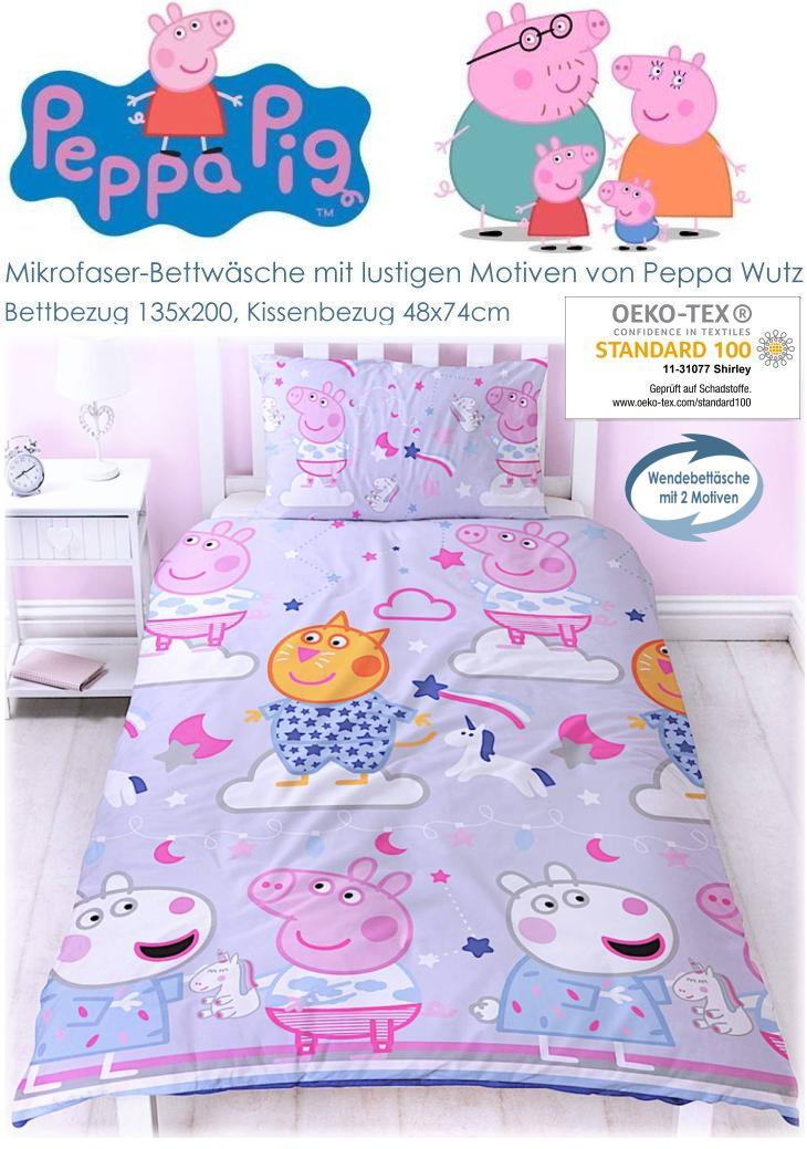 Kinderbettwäsche Peppa Wutz