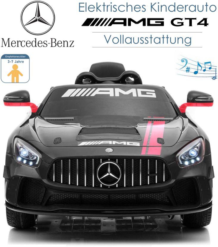Kinder Elektrofahrzeug Mercedes Benz AMG GT4 Elektroauto