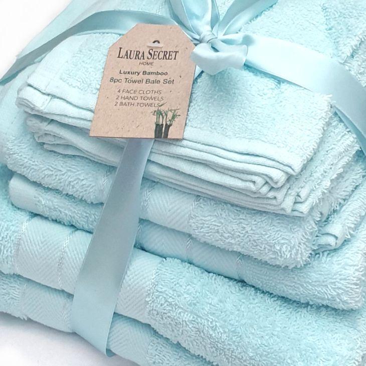 LS Handtuch-Set aus 100% Baumwolle