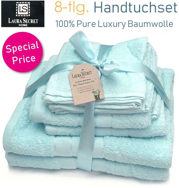 Baumwolle Handtuchset 8-teilig