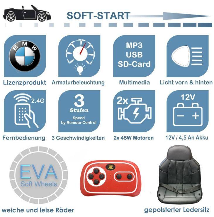 Kinder Elektroauto BMW 6 GT