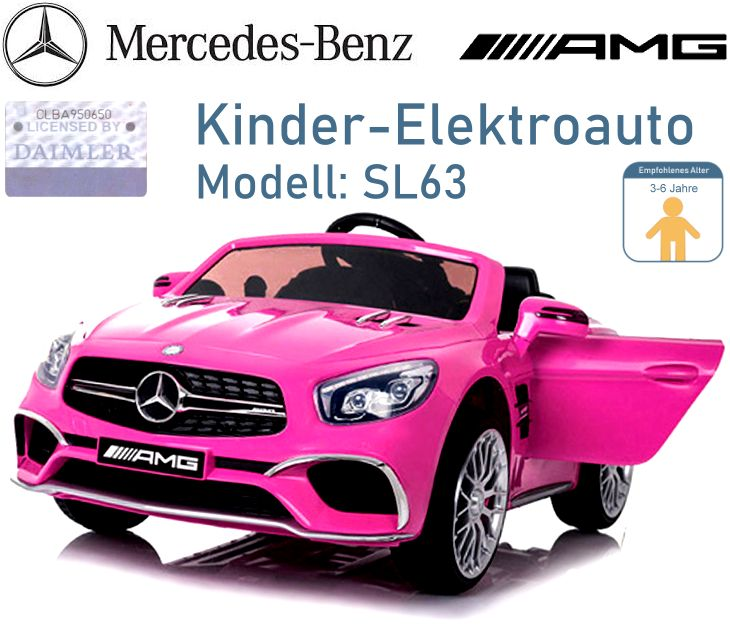 Kinder Elektrofahrzeug Mercedes Benz SL63 Elektroauto