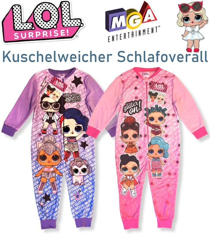 LOL Surprise Kinder Schlafoverall Schlafanzug