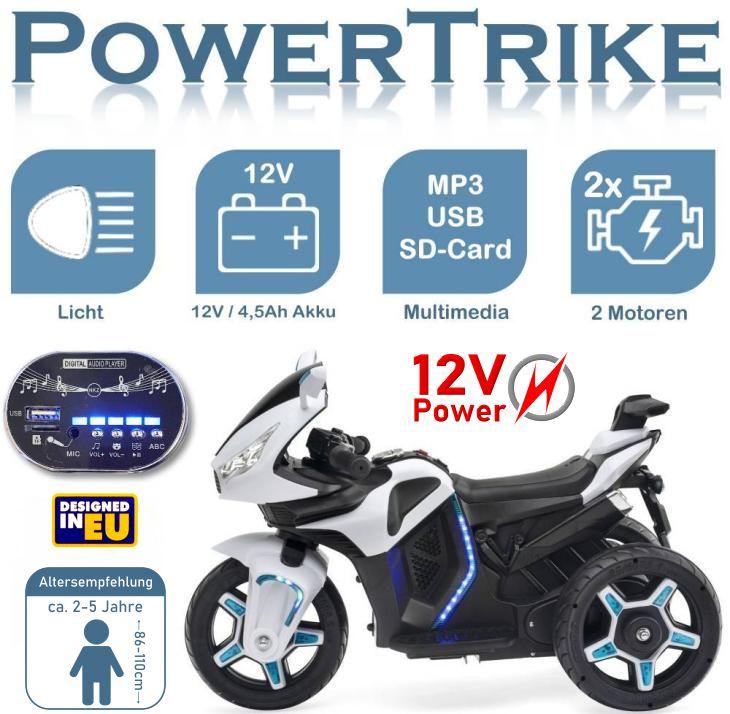 Powertrike Elektrisches Motorrad für Kinder