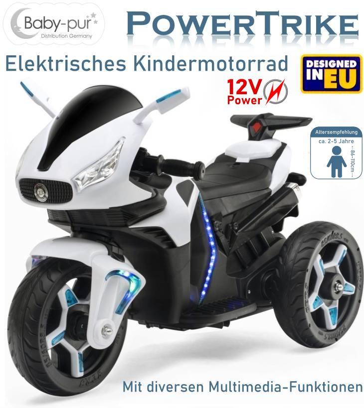 Kinder Elektromotorrad Powertrike Elektrisches Motorrad 12V