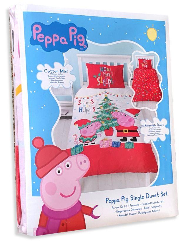 Weihnachts-Kinderbettwäsche Peppa Wutz