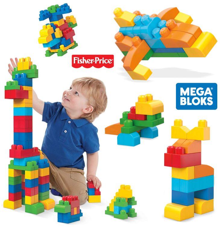 Mega Bloks von Fisher-Price 150er Bausteinebeutel für Kleinkinder