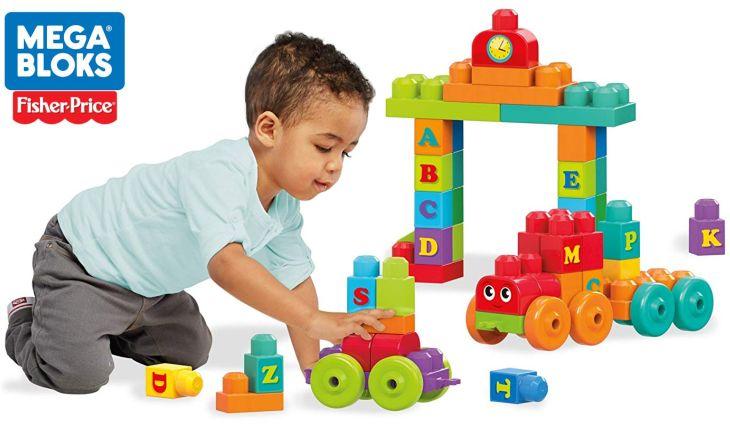 Mega Bloks von Fisher-Price 60 Bausteine für Kleinkinder ABC Lernzug