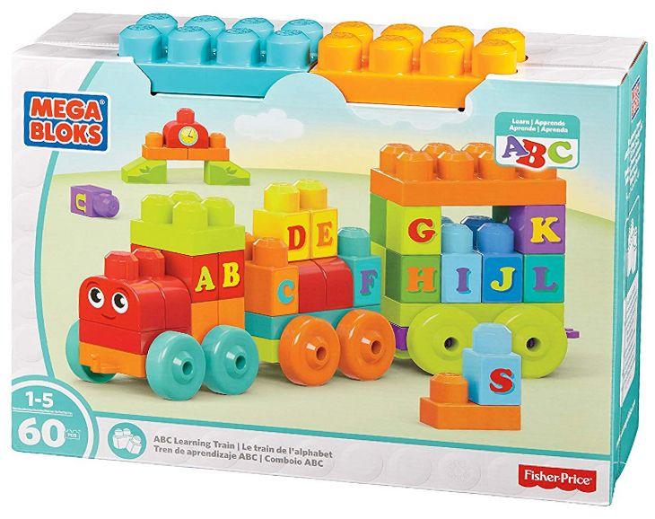 ABC-Lernzug Mega Bloks von Fisher-Price 60 Bausteine für Kleinkinder