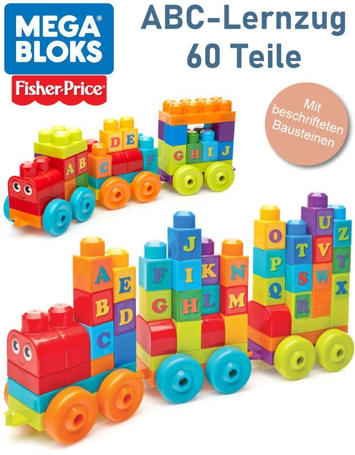 Mega Bloks von Fisher-Price 60 Bausteine ABC Lernzug