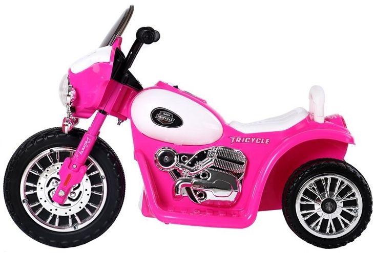 E-Trike Elektrisches Kindermotorrad Polizei Chopper rosa