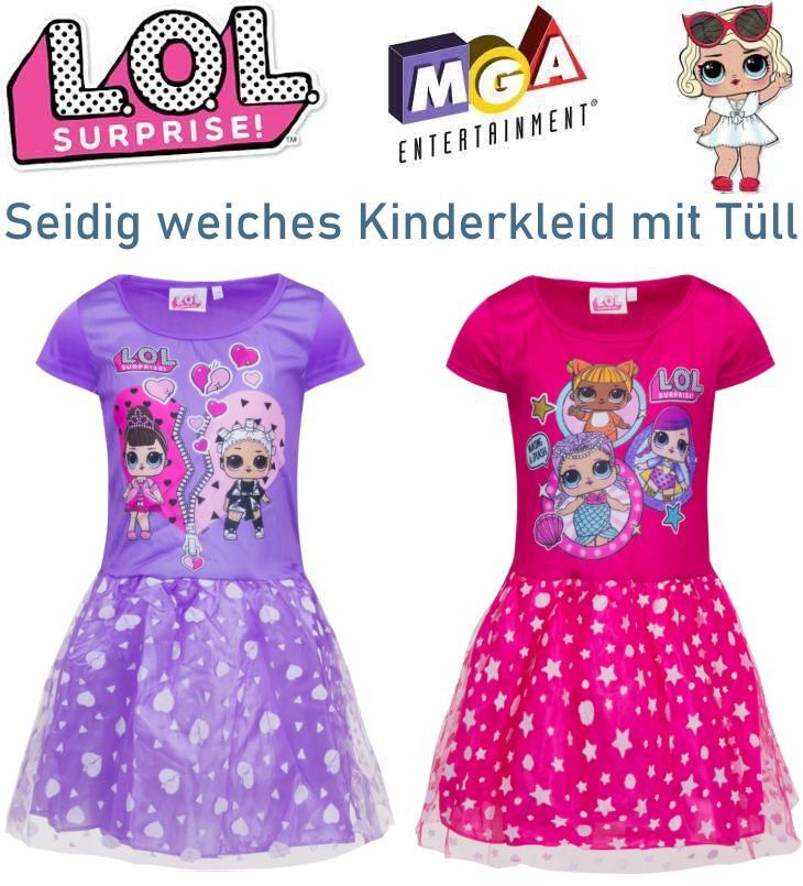 LOL Surprise Kinderkleid mit Tüllüberhang