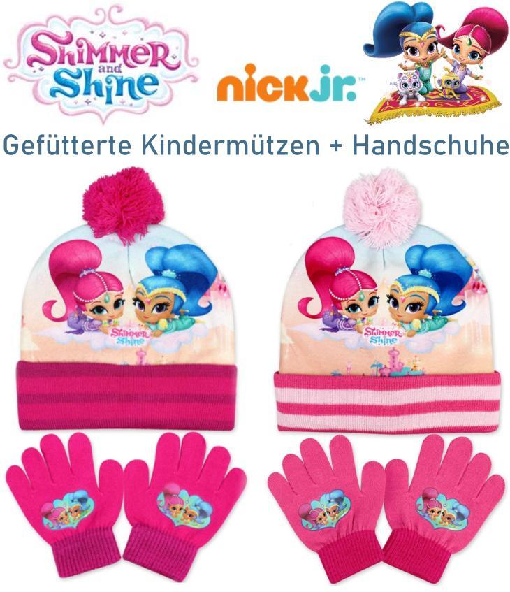 Shimmer uind Shine Kinder Mütze Handschuhe
