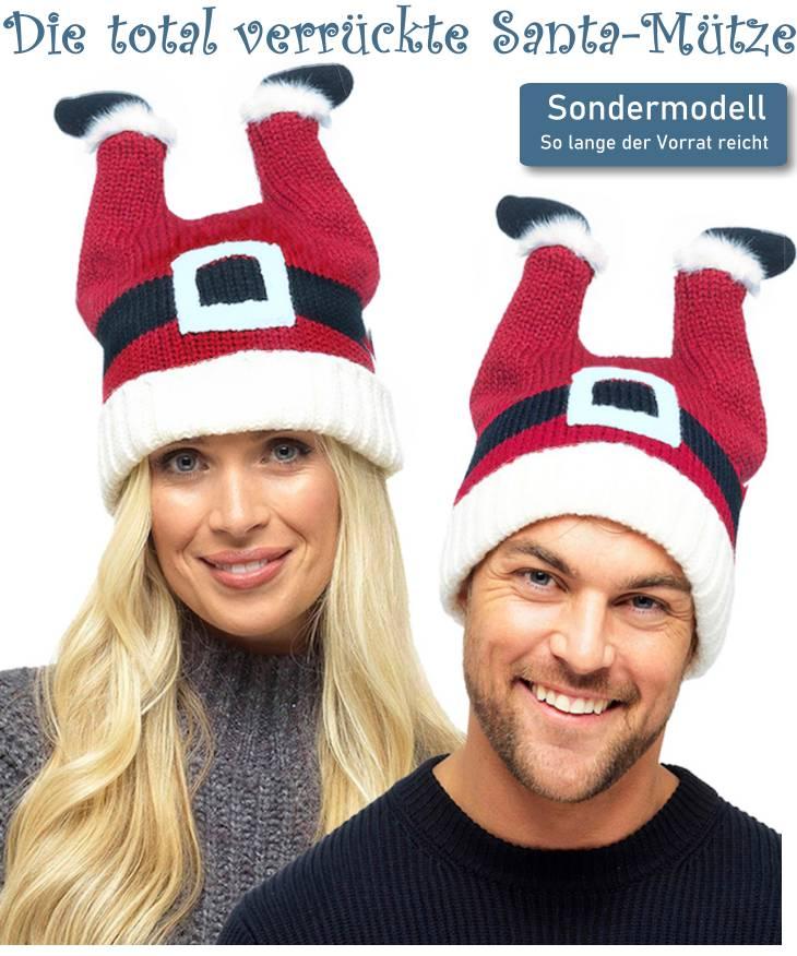 Total verrückte Santa Weihnachtsmütze