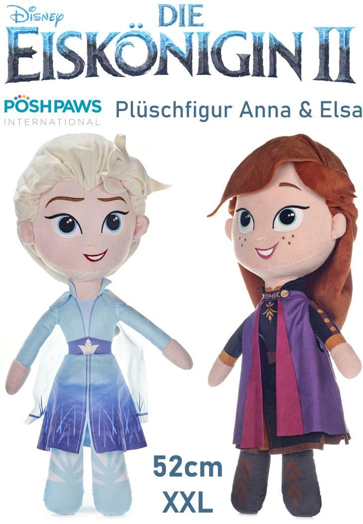 Frozen Die Eiskönigin 52cm XXL Plüschfigur Anna Elsa