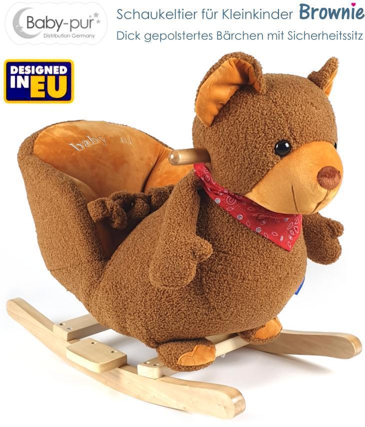 Baby Kleinkind Schaukeltier Bär Brownie
