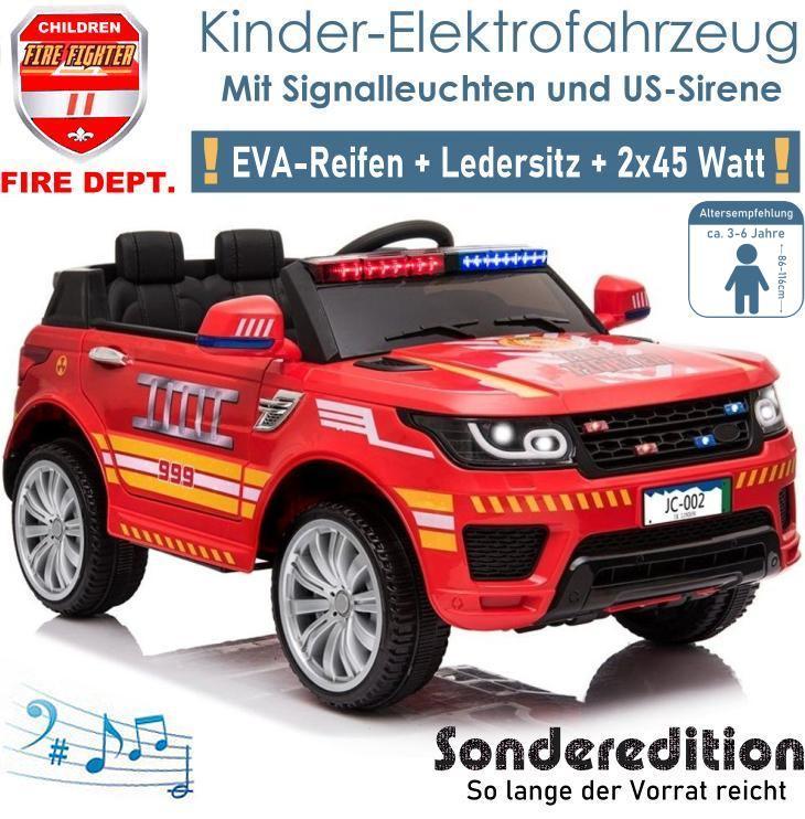 Kinder Elektrofahrzeug Feuerwehrauto Elektroauto SUV