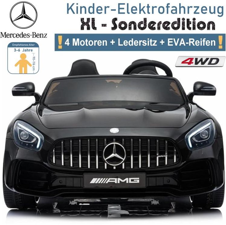 Kinder Elektrofahrzeug Elektroauto Zweisitzer Mercedes GTR