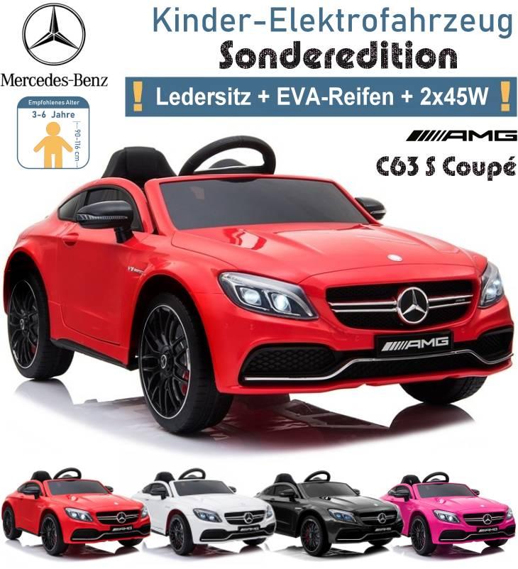 Kinder Elektrofahrzeug Mercedes Benz C63 S Coupe Elektroauto