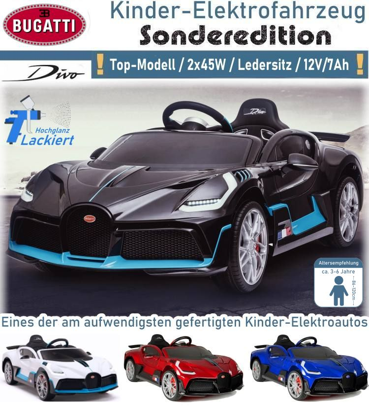 Kinder Elektrofahrzeug Elektroauto Bugatti Divo