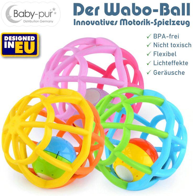 Motorik Spielball WaboBall für Baby und Kleinkind