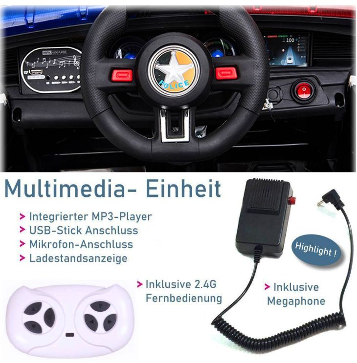 Kinder Elektrofahrzeug Polizei-Elektroauto DT