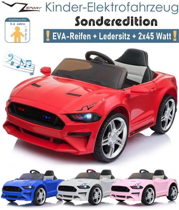 Kinder Elektroauto mit EVA Ledersitz 2x45 Watt