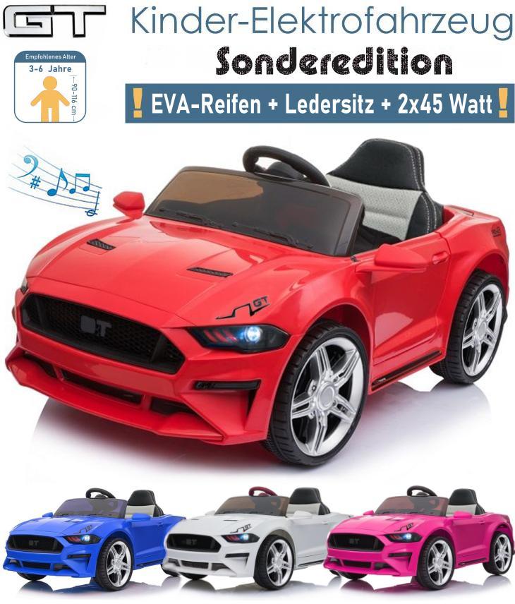 Kinder Elektroauto GT mit EVA Ledersitz 2x45 Watt