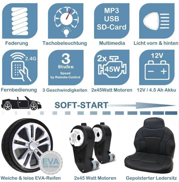 Audi Q8 Kinder Elektroauto
