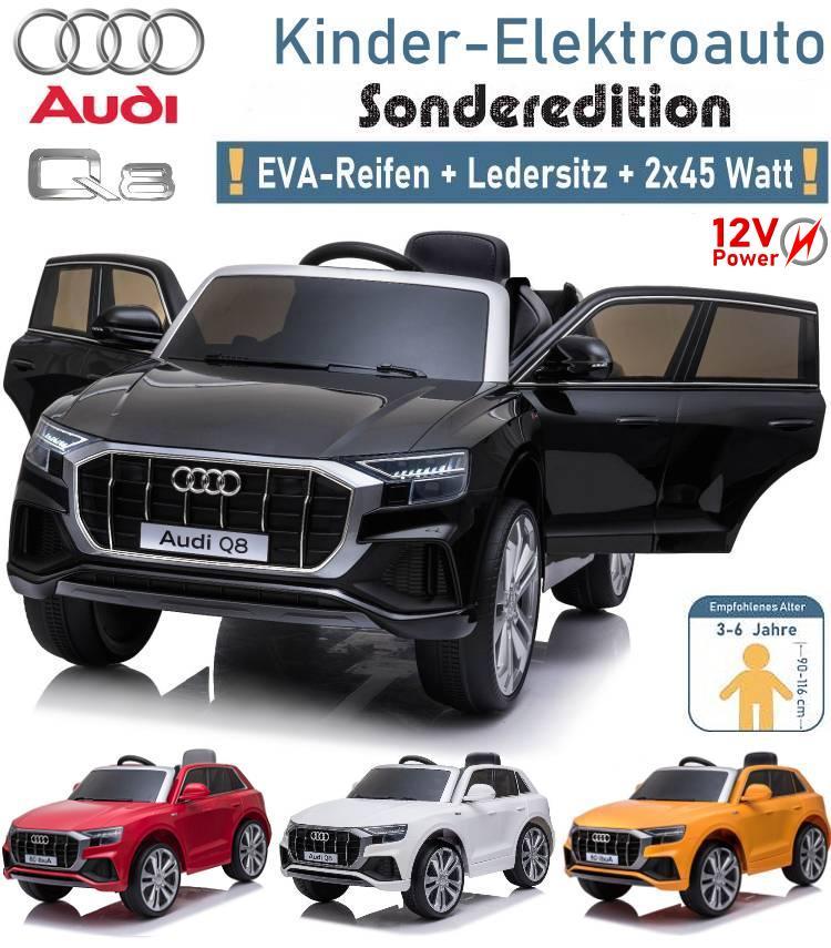 Kinder Elektroauto Audi Q8 SUV mit EVA Ledersitz 2x45 Watt
