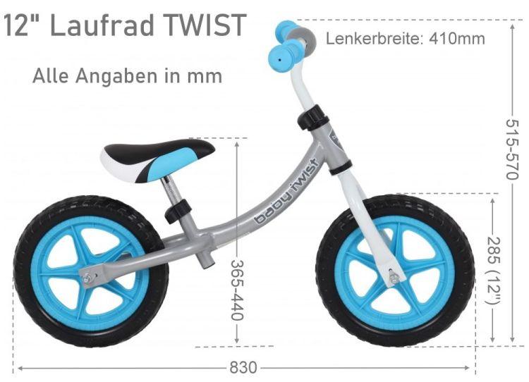 Maße Laufrad Twist
