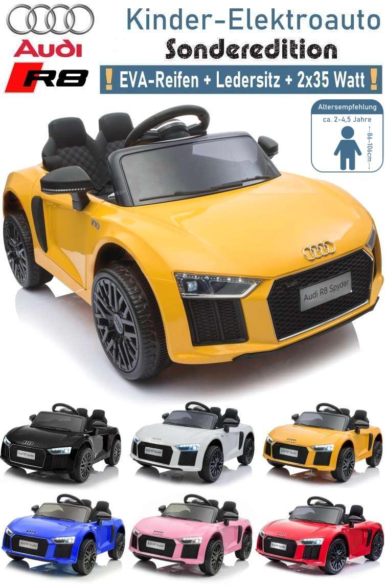 Kinder Elektrofahrzeug Audi R8 Spyder Elektroauto