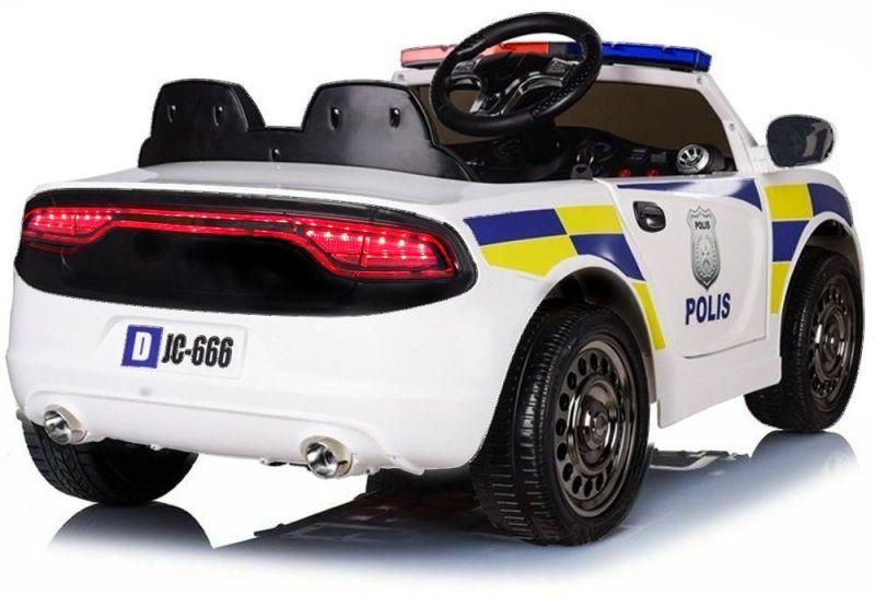 Kinder Elektrofahrzeug Police SE-Polizei Elektroauto weiß