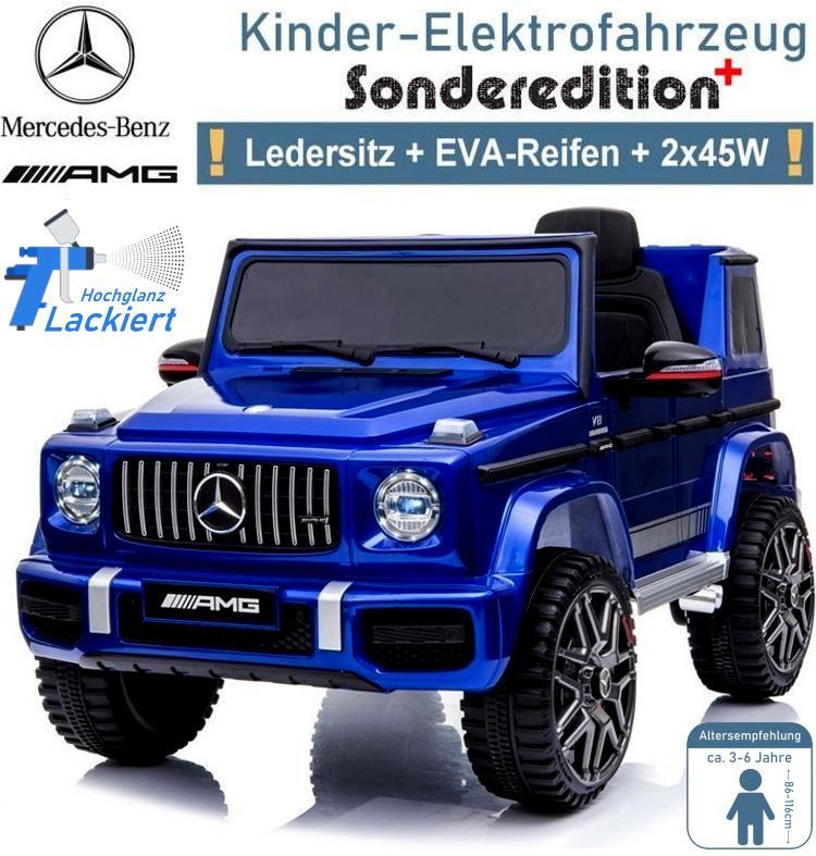 Kinder Elektrofahrzeug Mercedes G63 EVA Ledersitz lackiert
