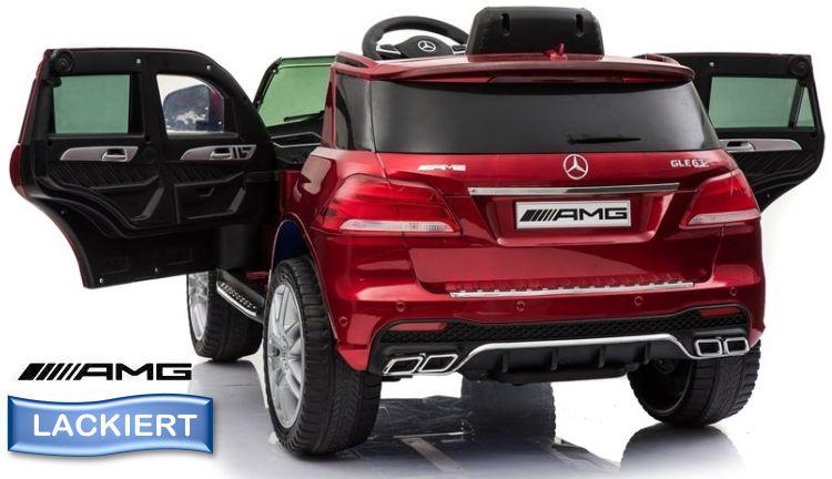 Sonderedition mit Lackierung Elektro Auto Mercedes Benz GLE 63S für Kinder