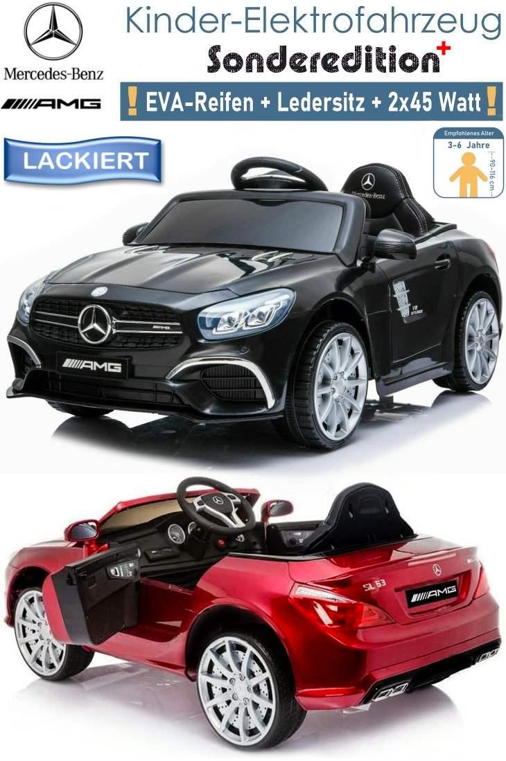 Kinder Elektrofahrzeug Mercedes Benz SL63 Elektroauto Lackiert SE+