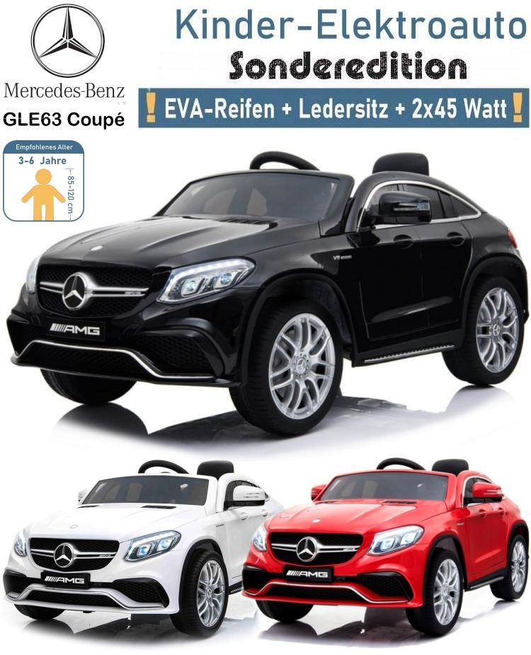 Kinder Elektrofahrzeug Mercedes Benz GLE 63 Coupe Elektroauto