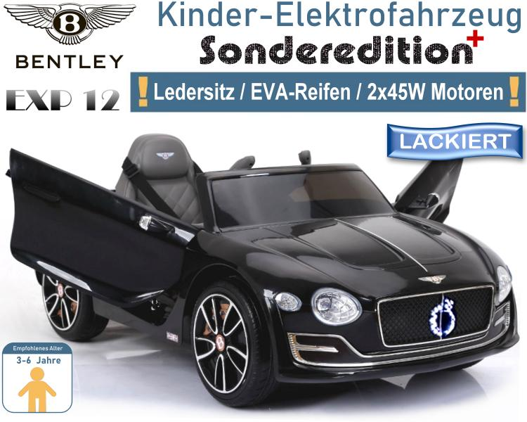Kinder Elektrofahrzeug Bentley EXP12 Elektroauto