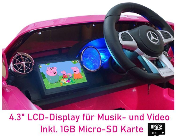 Elektro Auto für Kinder mit Videoplayer Mercedes SL65