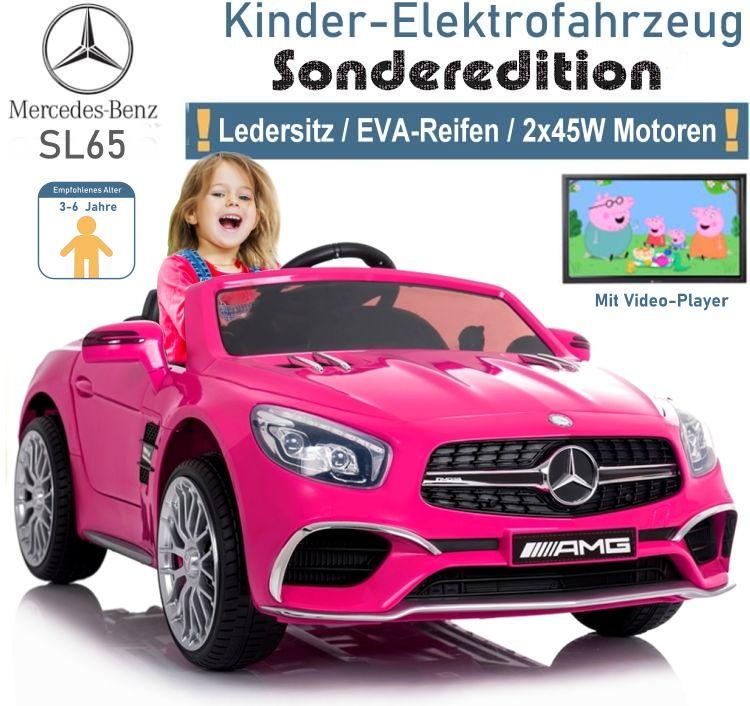 Kinder Elektrofahrzeug Mercedes Benz SL65 Elektroauto mit MP4 LCD-Display