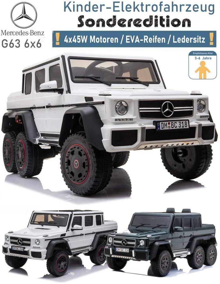 Kinder Elektrofahrzeug Mercedes G63 6x6 EVA Ledersitz
