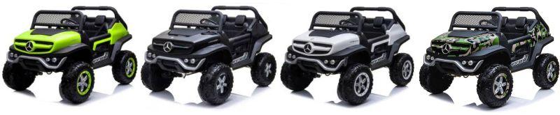Kinder Elektrofahrzeug Zweisitzer Mercedes Benz Unimog Concept XXL