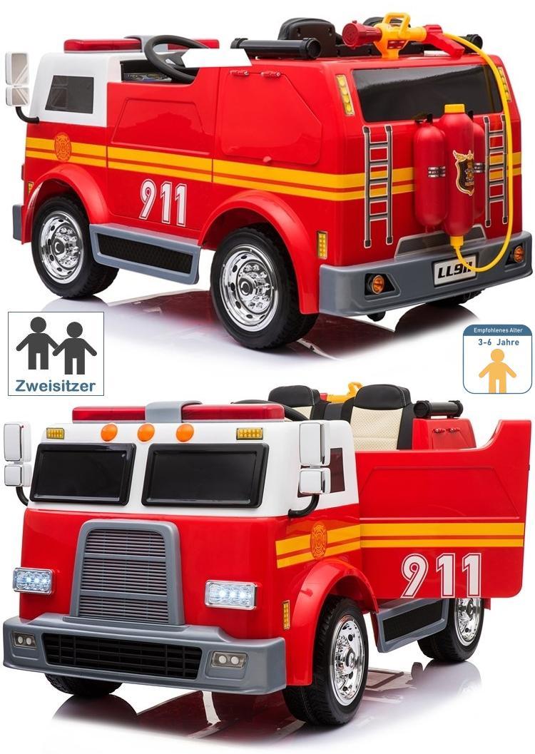 Elektroauto Feuerwehrauto für Kinder zum selbst fahren