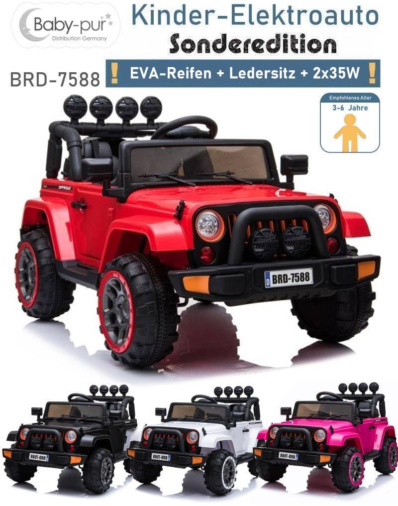 Kinder Elektroauto Geländewagen BRD EVA Ledersitz