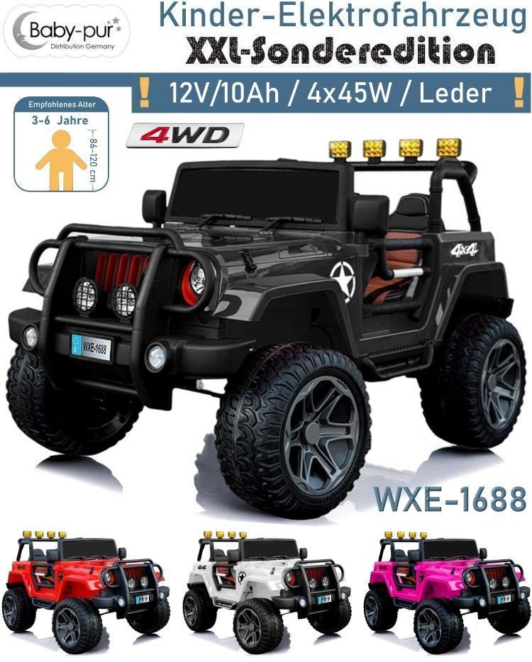 Kinder Elektroauto Geländewagen WXE1688 4WD EVA Ledersitz